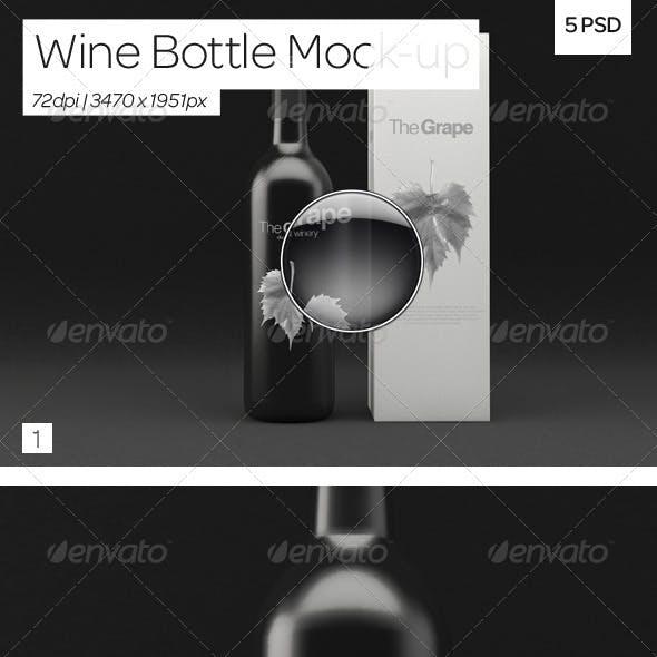 Wine Bottle Packaging Mock-Up