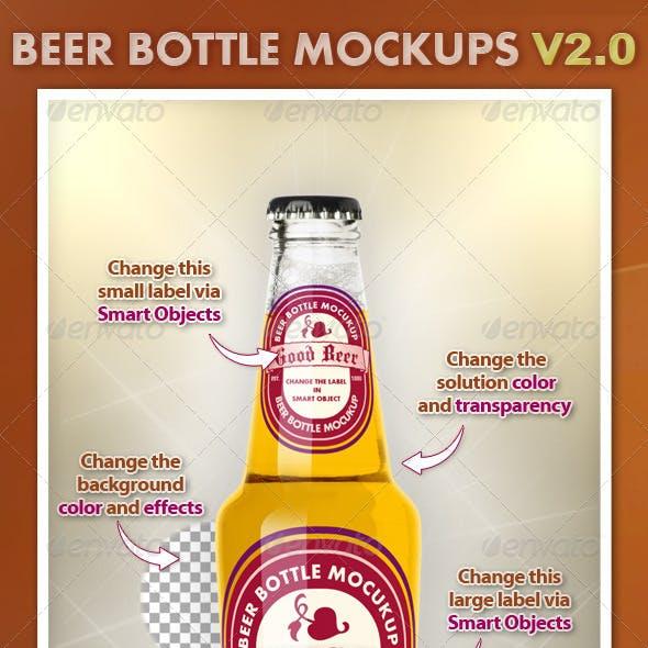 Beer Bottle Mockups V2.0