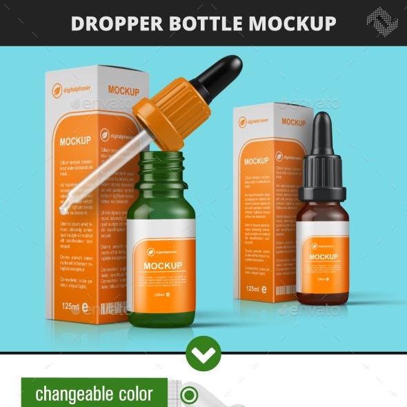 Dropper Bottle & Box Mockup