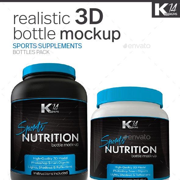 Sport Supplements Bottle Mockup
