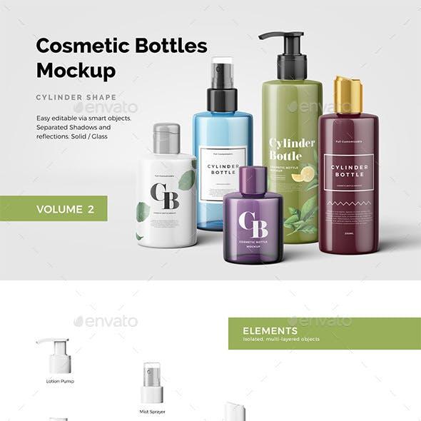 Cosmetic Bottles Mockup Vol.2