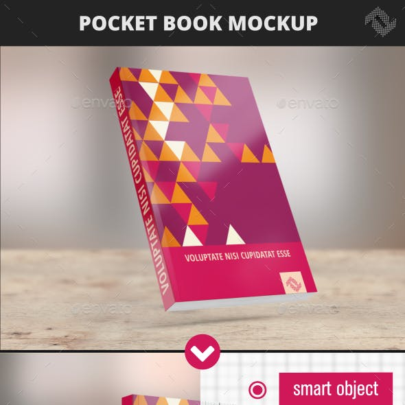 Pocket Soft Cover Book Mockup