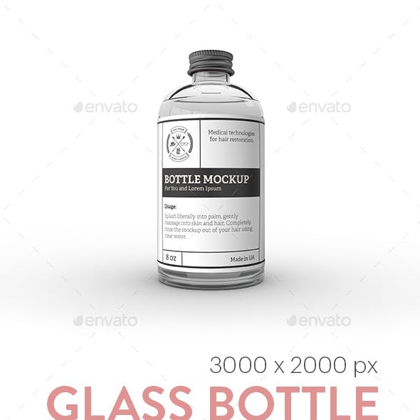 Glass Bottle Label MockUp