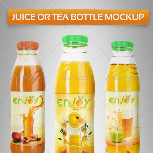 Juice or Tea Bottle Mockup