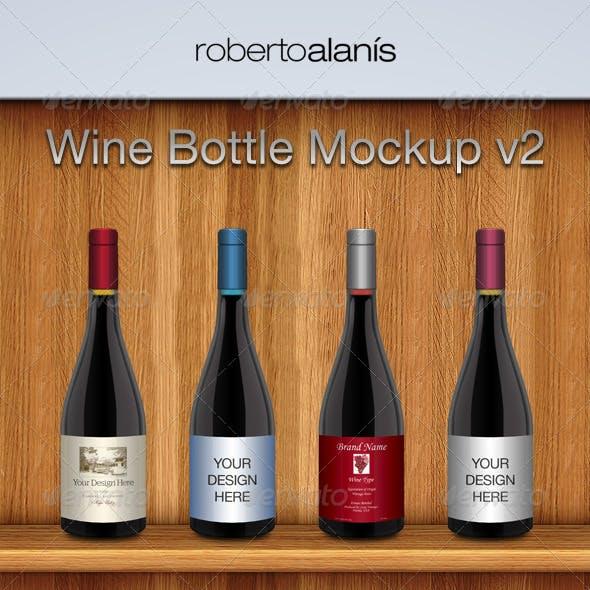 Wine Bottle Mockup V2
