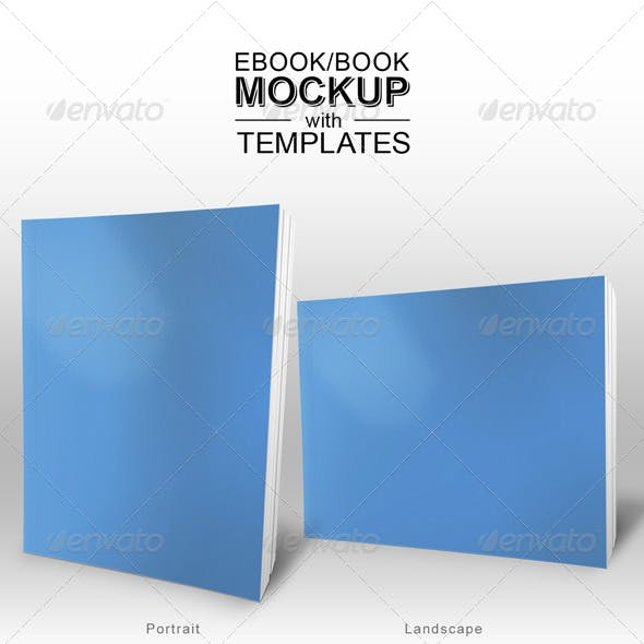 Ebook/Book Mockup with Templates