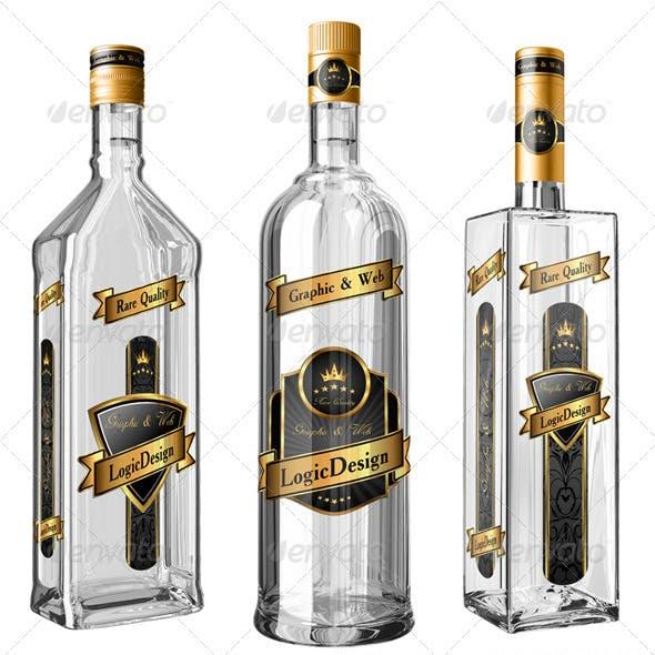 Translucent Bottles Mock Up