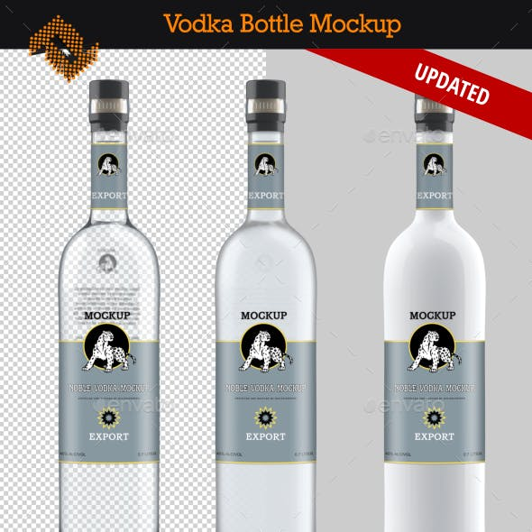 Vodka Bottle Mockup Vol. 4
