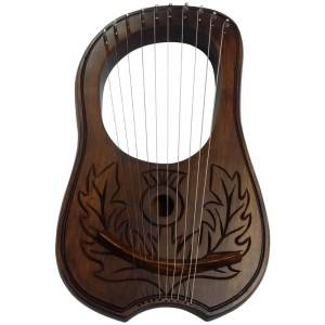 Lyre Harp Rosewood 10 METAL STRINGS Thistle Design