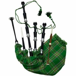 Irish tartan Scottish bagpipe