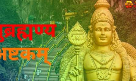 Subramanya Ashtakam Lyrics in hindi with PDF and meaning