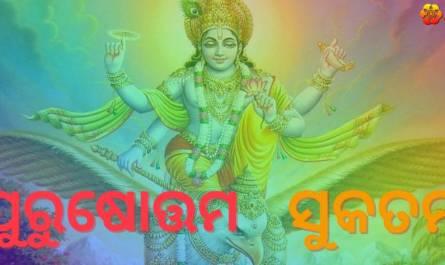 Purusha Suktam Stotram lyrics in Oriya/odia with meaning, benefits, pdf and mp3 song