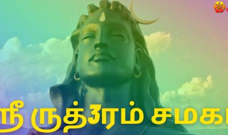 Sri Rudram Chamakam lyrics in Tamil pdf with meaning, benefits and mp3 song.