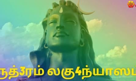 Sri Rudram Laghunyasam lyrics in Tamil pdf with meaning, benefits and mp3 song.