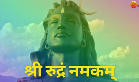 Sri Rudram Namakam lyrics in Hindi/Sanskrit pdf with meaning, benefits and mp3 song.