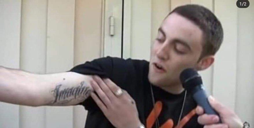 Mac miller tattoo imagine of Arian Grande song