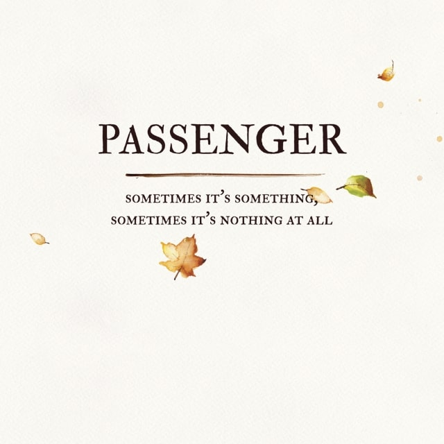 Passenger - Sometimes It's Something, Sometimes It's Nothing At All