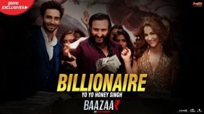 Billionaire (Baazaar) song lyrics Yo Yo Honey Singh