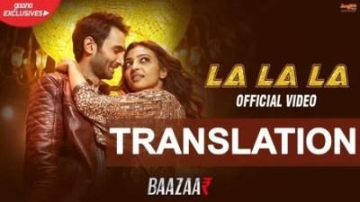 la la la neha kakkar lyrics english translation
