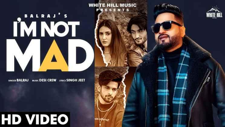 आई एम नॉट मैड I am not Mad Lyrics In Hindi