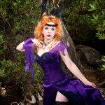 Black and purple dark fantasy fae Titania corset and gown