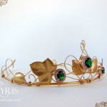 Gold and green medieval fantasy crown