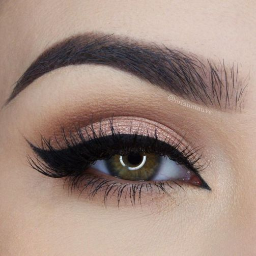 cut crease eye makeup look