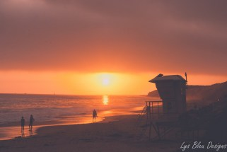 sunset crystal cove beach ocean california lifeguard tower