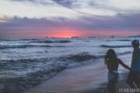 huntington beach sunset ocean california