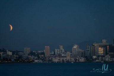 lunar eclipse - blood moon - super blood moon - supermoon - san diego photos - landscape photography