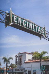 encinitas sign, encinitas neon sign, san diego neon signs, san diego county, san diego photos, urban photography
