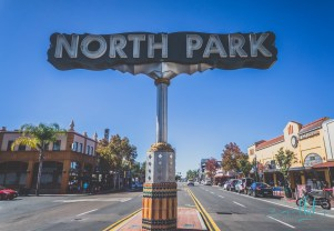 north park sign, north park neon sign, north park san diego, san diego, san diego neon signs, san diego neighborhoods, san diego photos, urban photography