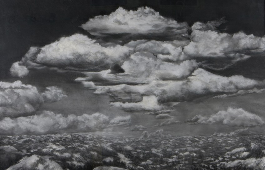 Bouquet of Clouds, Charcoal, 38 x 56