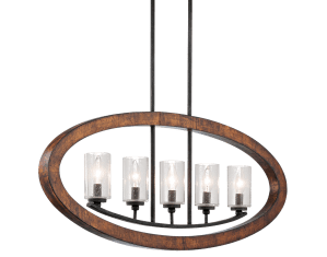 Grand Bank 5 Light Linear Chandelier