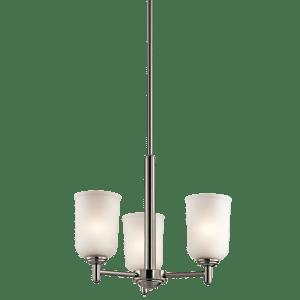 Shailene 3 Light Mini Chandelier - Brushed Nickel