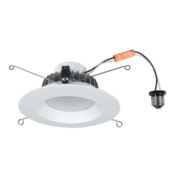 """5/6"""" LED Recessed Can Light, Dimmable Cool White"""