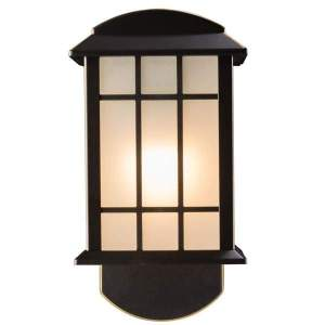 Craftsman Companion Smart Security Oil Rubbed Bronze Metal and Glass Outdoor Light Fixture