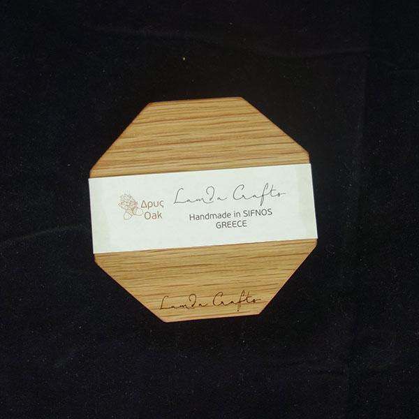 ξύλινο σουβέρ οκτάγωνο σετ 6 τεμάχια