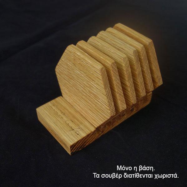 βάση για ξύλινο σουβέρ εξάγωνο σετ 6 τεμάχια
