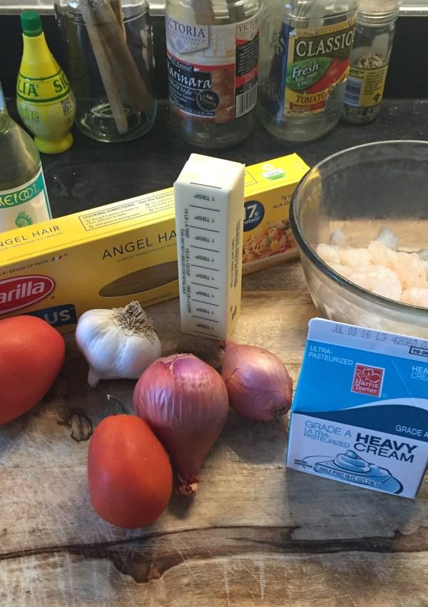 Shrimp Pasta & I Made the Sauce too!