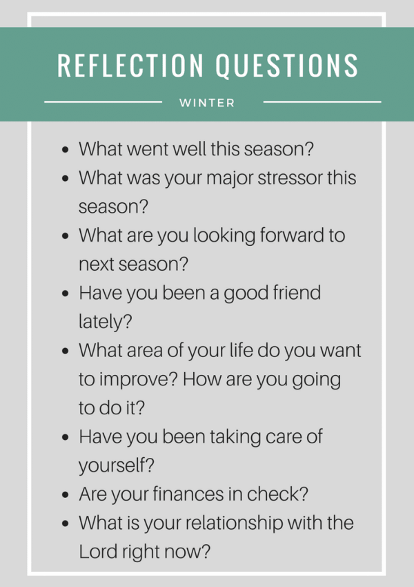 My Winter Season Reflection & 8 Questions to Get You Started