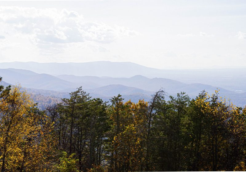Blue ridge mountains Charlottesville Shenandoah