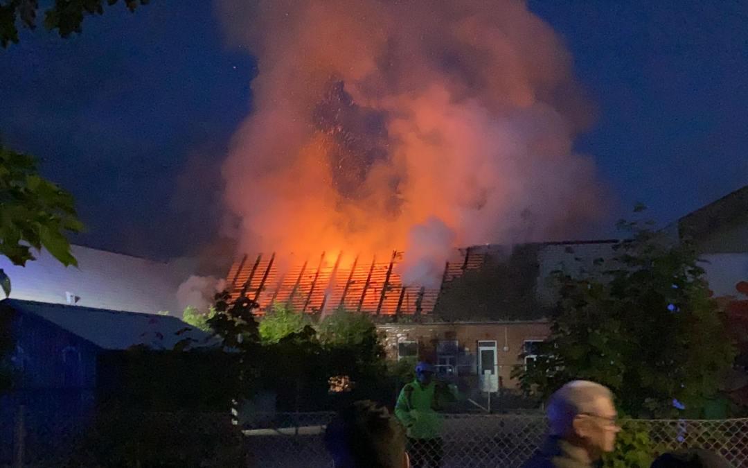 Vores spejderhus er brændt