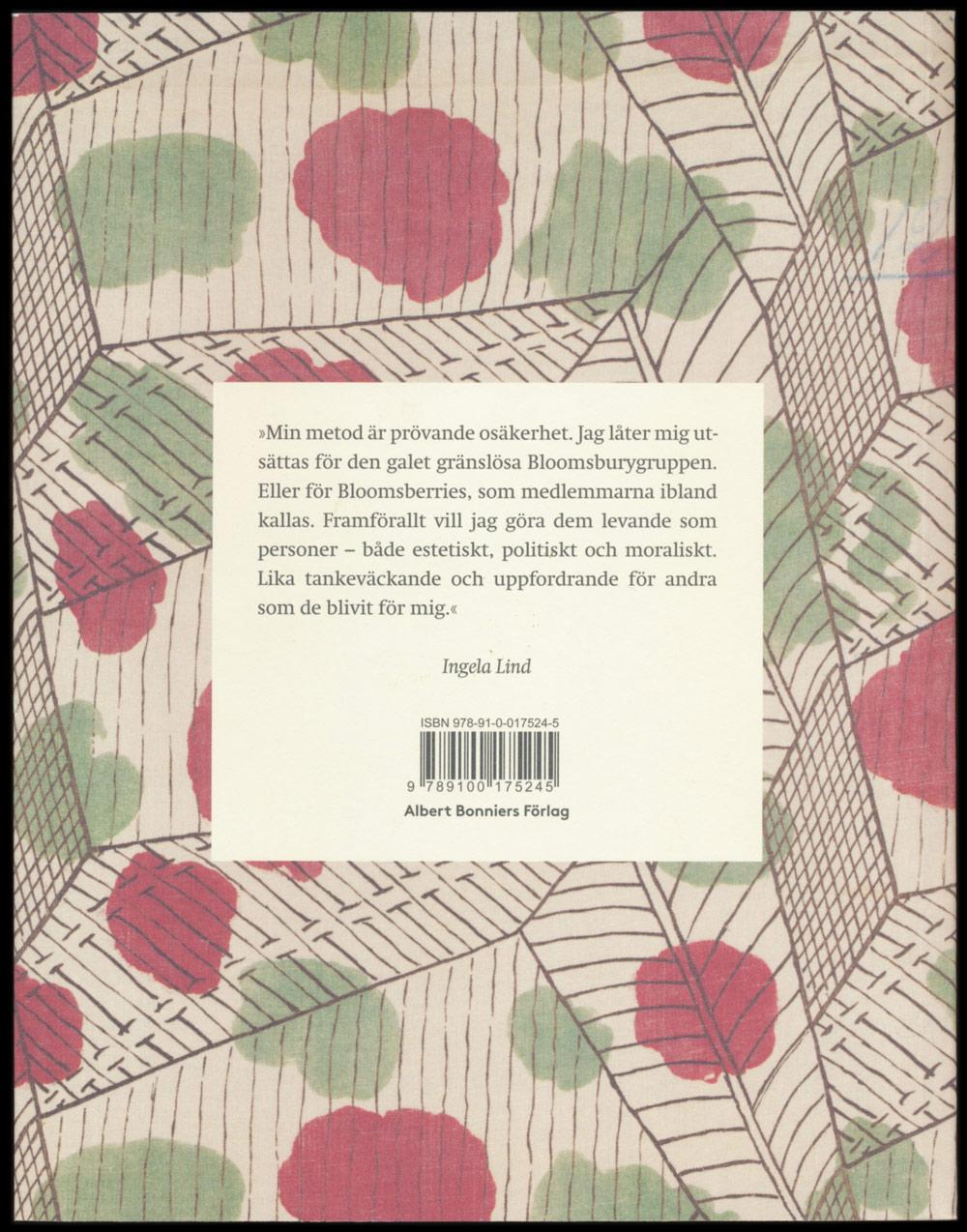 Ta sig frihet av Ingela Lind, form av Annika Lyth, utgiven av Albert Bonniers Förlag