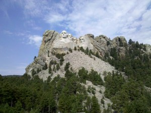 Mount Rushmore National Monument, in the Black Hills of South Dakota.