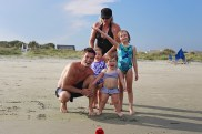 This picture shows the true story behind family vacations. Alan, just wanted one picture with all 3 of his nieces. This is as good as it got.