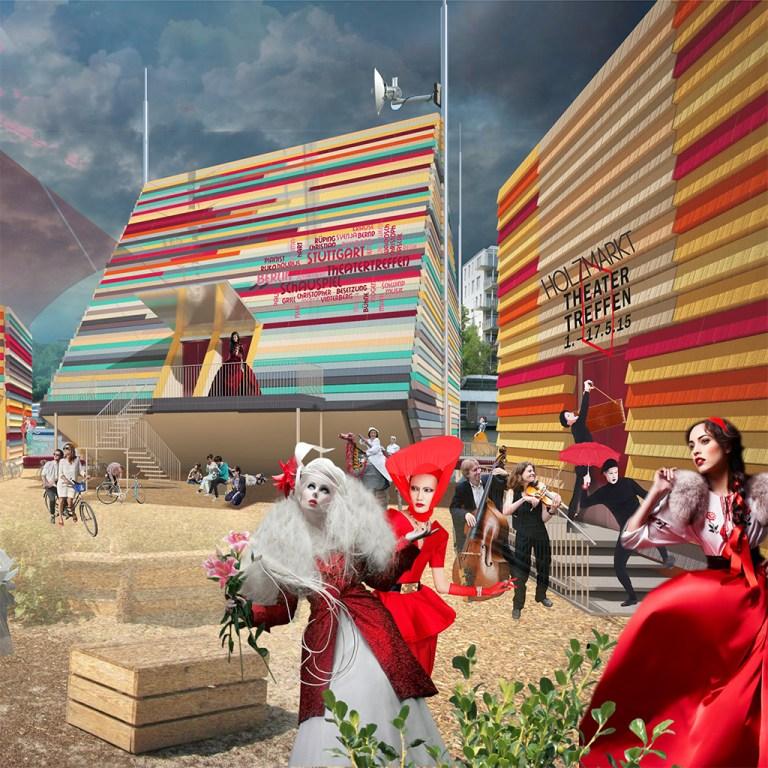 проект архитектура театр в берлине главный вид