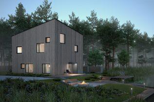 Энергоэффективный дом Т1-1 ночь
