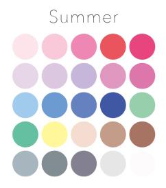 ブルべ夏カラー色票