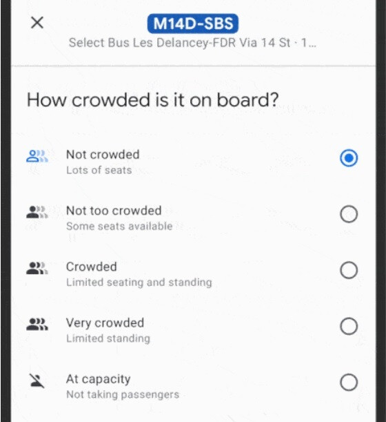 Google Maps will soon be able to inform you how crowded your bus, train, or subway car is - New helpful features are added to Google Maps